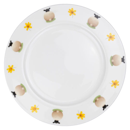 lucy pittaway sheep and daisy dinner plate