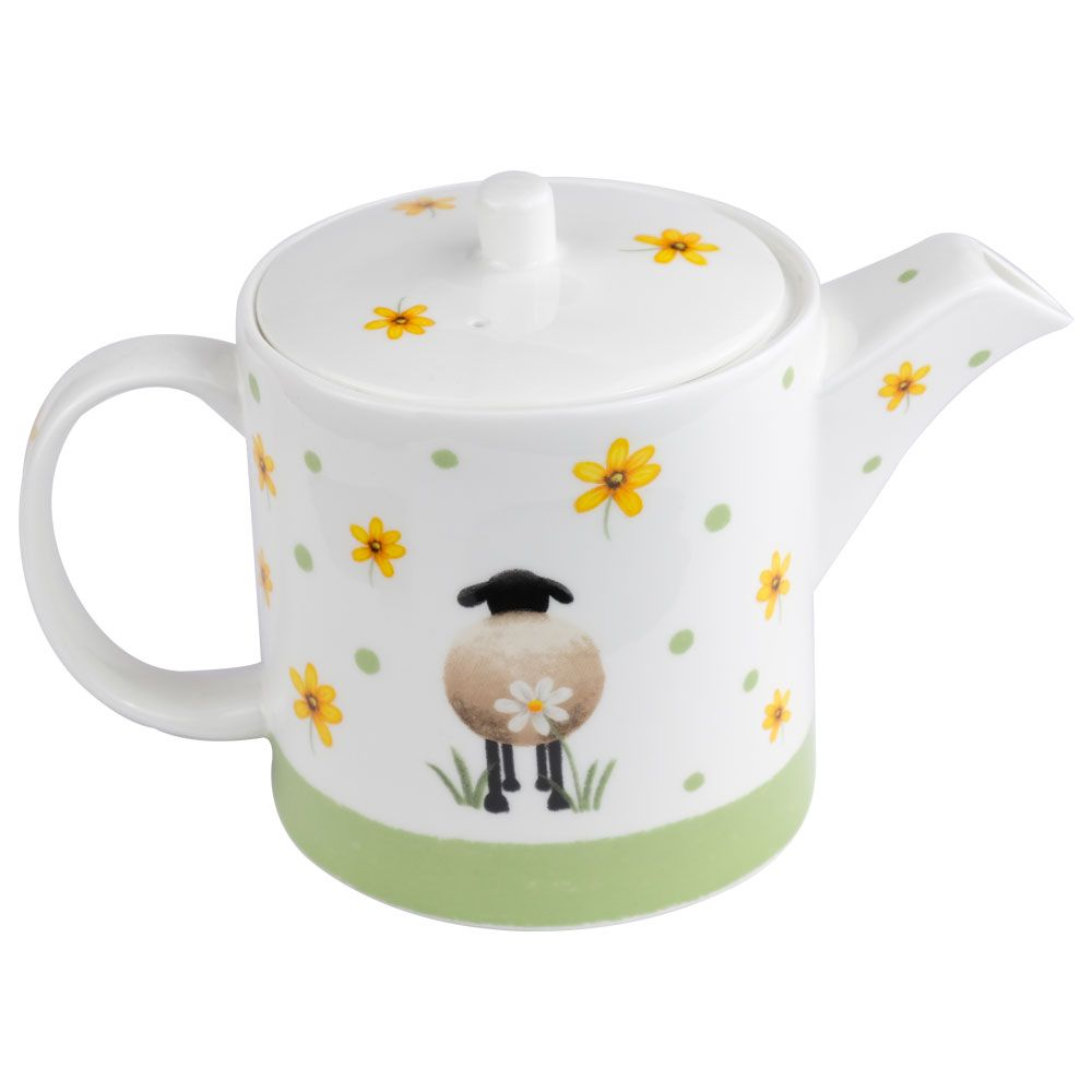 lucy pittaway sheep and daisy teapot