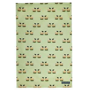 lucy pittaway sheep and daisy tea towel
