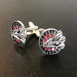 dartboard and arrows cufflinks