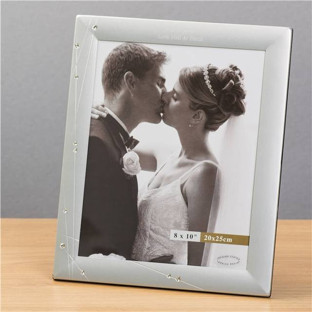 personalised diamante 8 by 10 photo frame