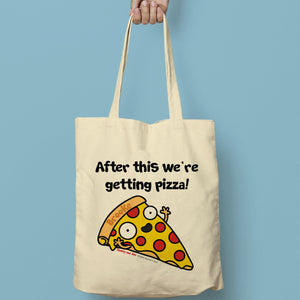 personalised pizza tote bag