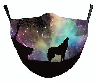 galaxy wolf face mask