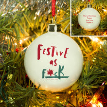 personalised festive as .... christmas bauble