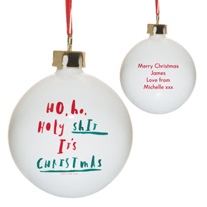 personalised holy .... its christmas bauble