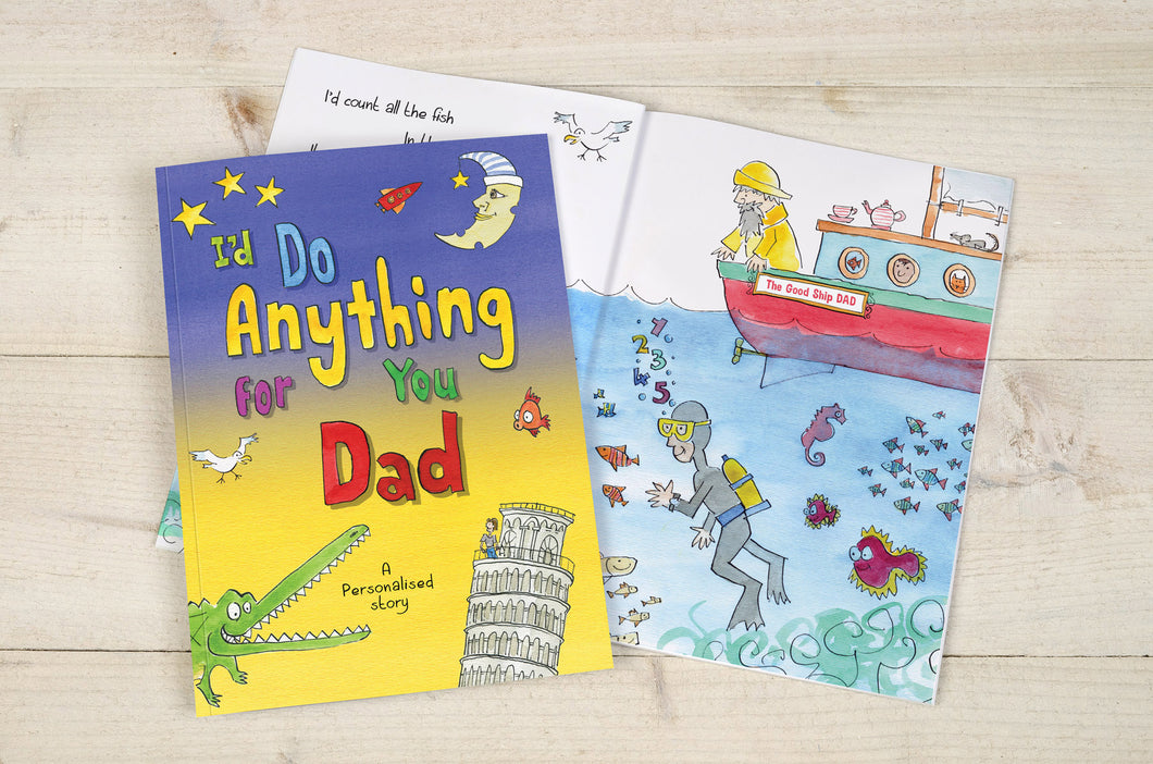 personalised i'd do anything for you dad book