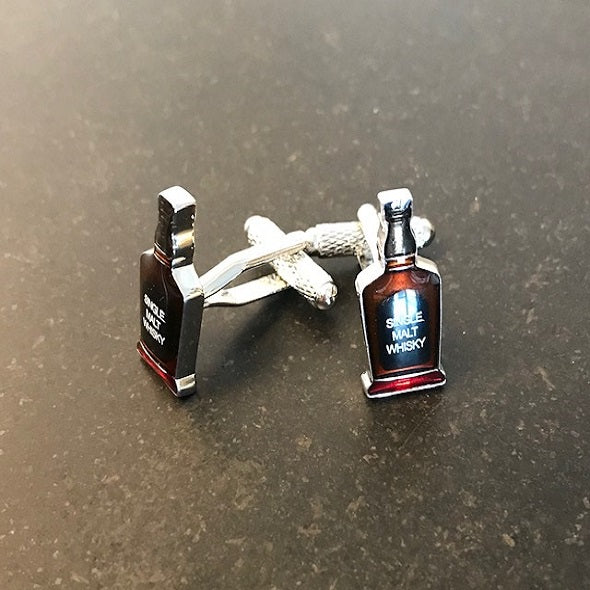 single malt whisky bottle cufflinks