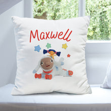 personalised moon and me little nana lambkin cushion