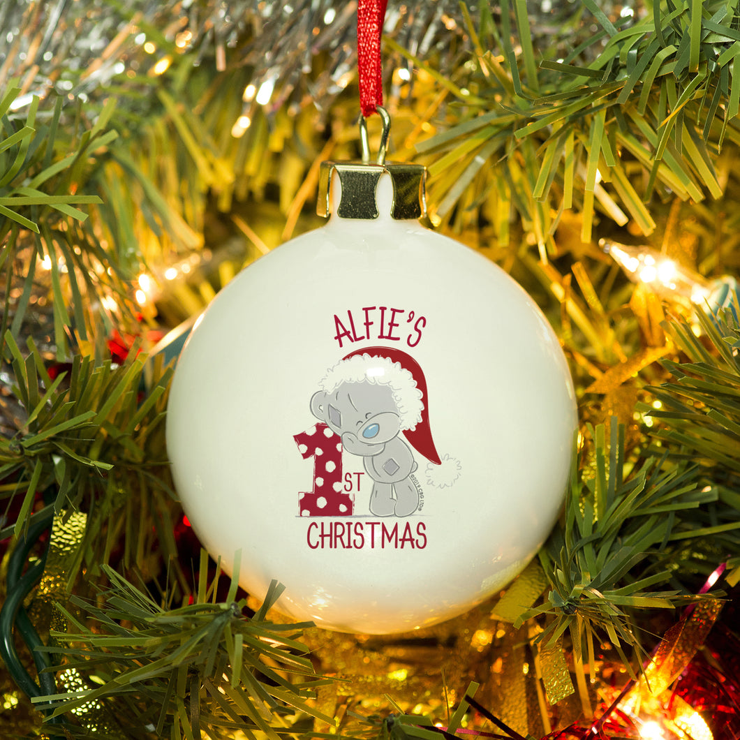 personalised me to you 1st christmas bauble