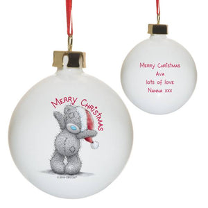 personalised me to you merry christmas bauble