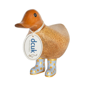 DCUK Ducky With Pastel Lilac Spotty Wellies