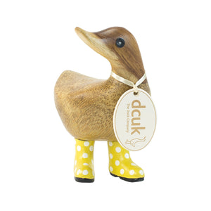 DCUK Ducky With Yellow Spotty Wellies