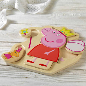 personalised peppa pig puzzle tray