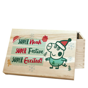 personalised peppa pig george christmas eve box