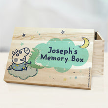 personalised peppa pig george memory box