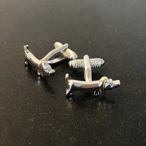 sausage dog cufflinks