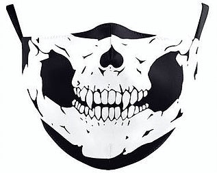 Skull Face Design Shaped Face Mask