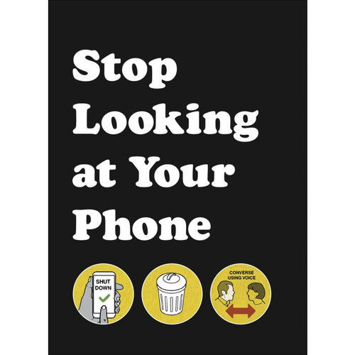 book stop looking at your phone