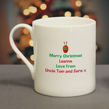 personalised hungry caterpillar ho ho ho christmas mug
