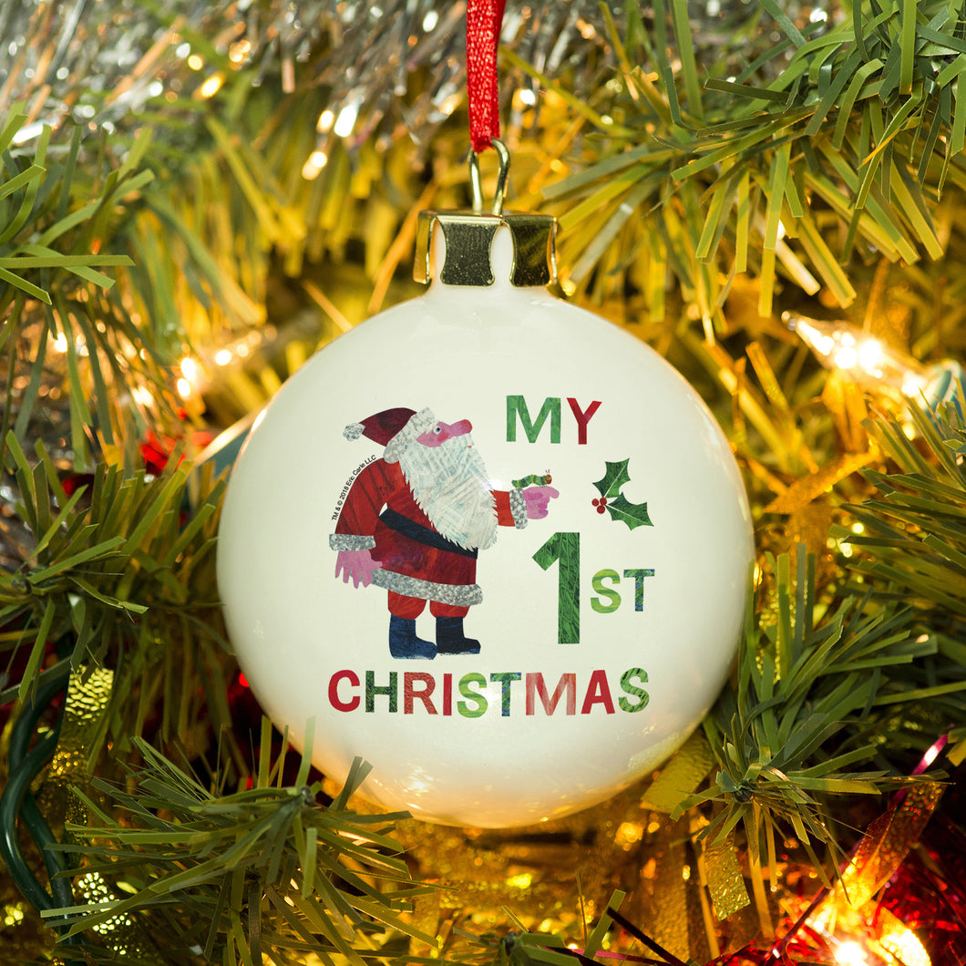 personalised hungry caterpillar my first christmas bauble