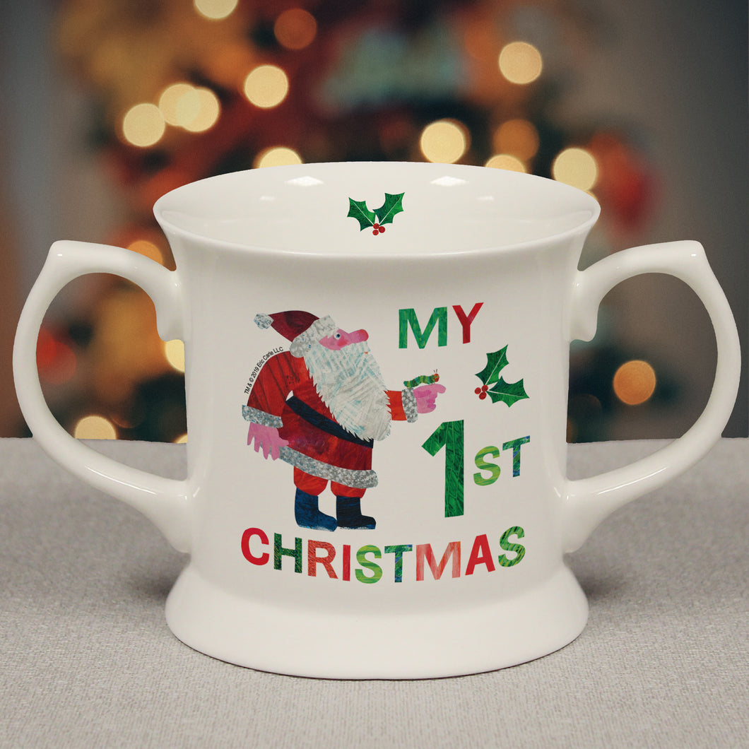 personalised hungry caterpillar my first christmas loving cup