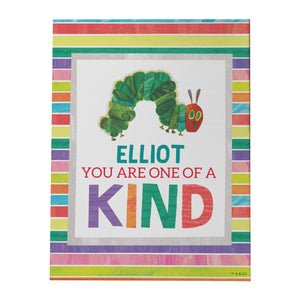 personalised hungry caterpillar one of a kind canvas