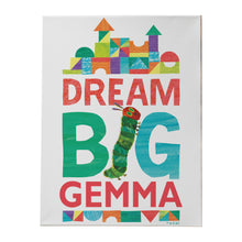 personalised hungry caterpillar dream canvas