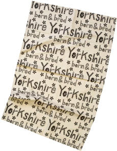 yorkshire born and bred tea towel