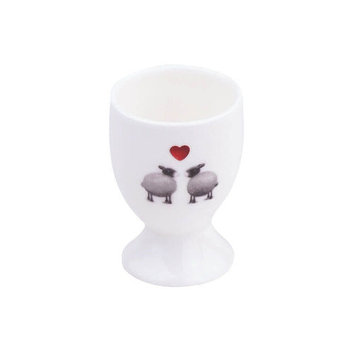 black and white sheep egg cup