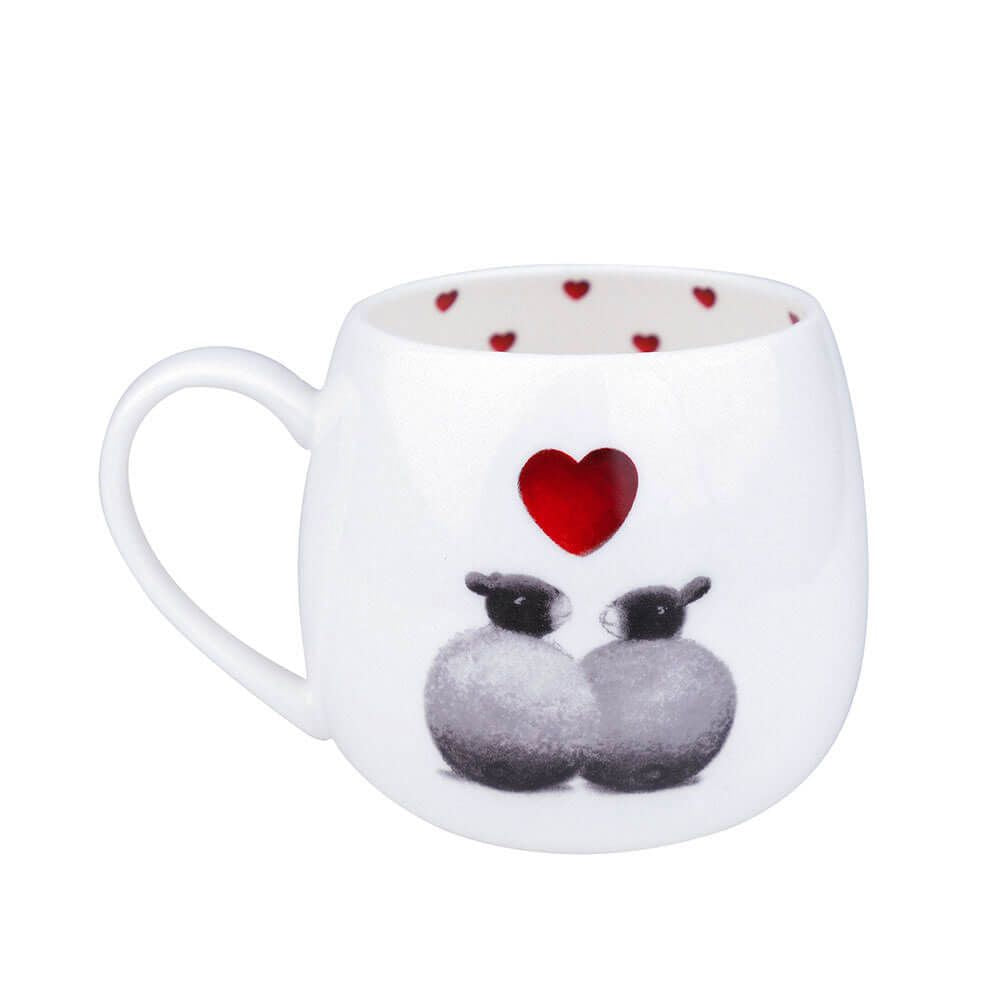 black and white sheep mug