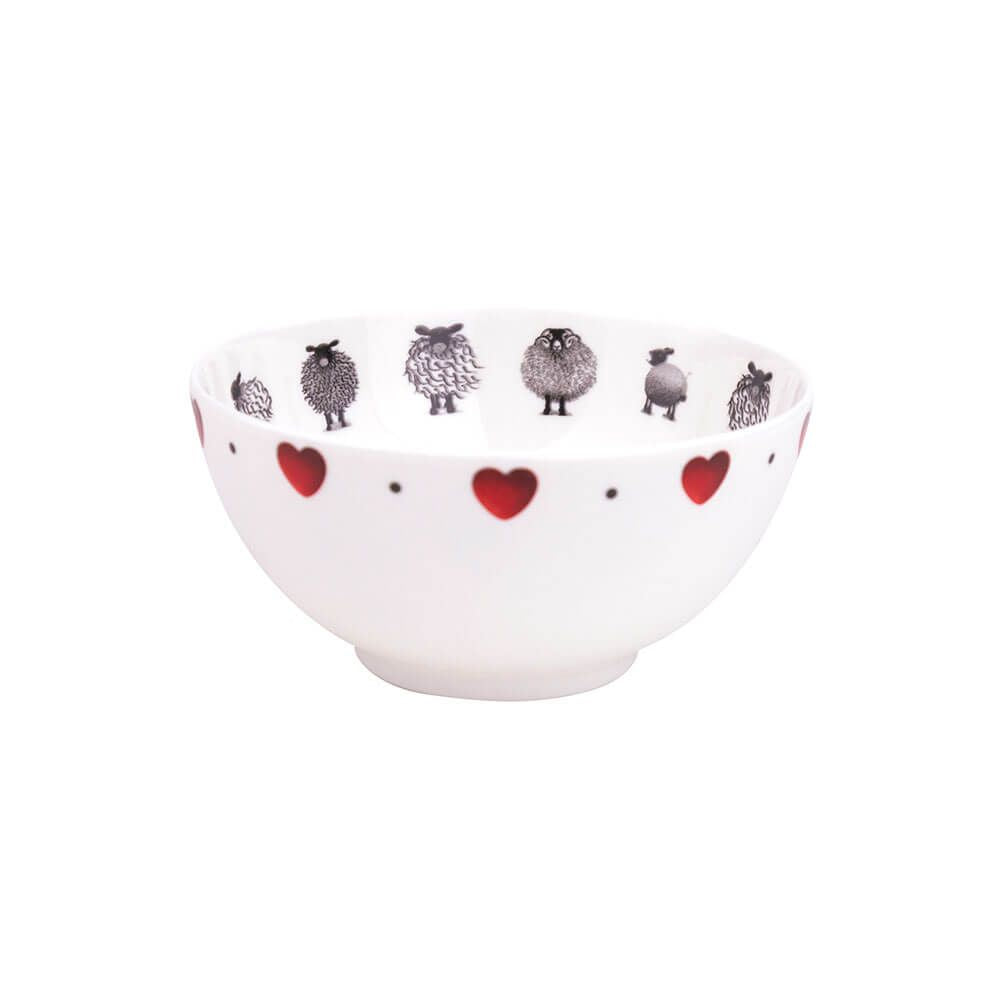 lucy pittaway black and white sheep sugar bowl