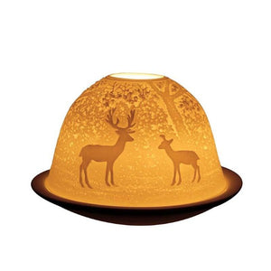 Light Glow Forest Deer Tealight Candle Holder