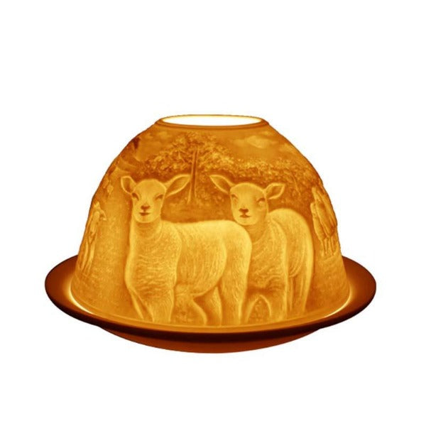 Light Glow Sheep Tealight Candle Holder