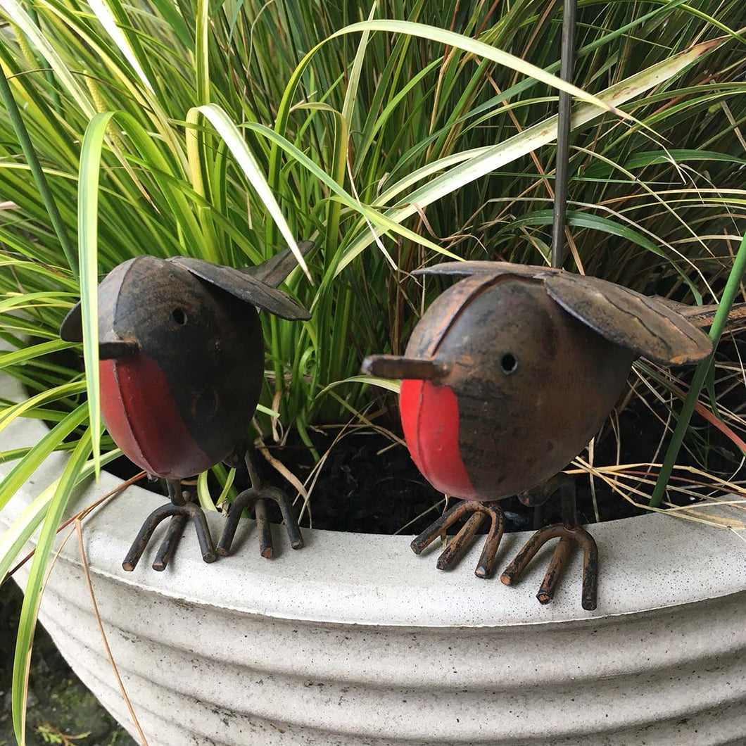 Metal Garden Robin Ornaments