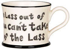 Yorkie Ware Lass Out Of Yorkshire Mug
