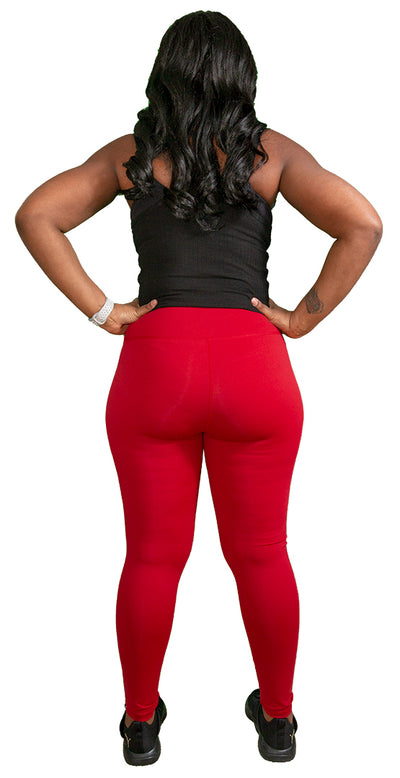 Lady in Red Leggings