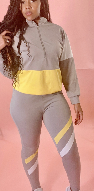 On the go Gray tracksuit