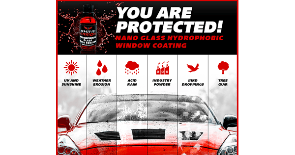 Nano Glass Hydrophobic Window Coating