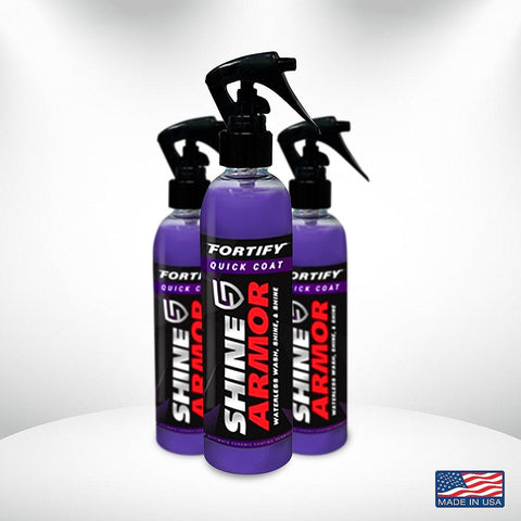 Shine Armor® Wash And Wax - Shine Armor Fortify Quick Coat - Ceramic Waterless Wash, Shine & Protect - 4