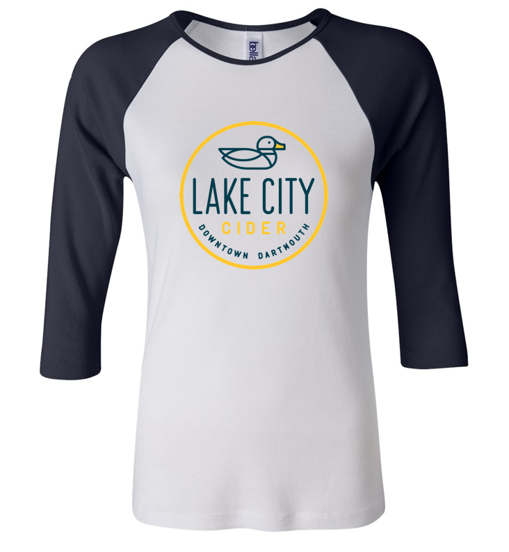 Ladies Baseball T-Shirt - Lake City Cider