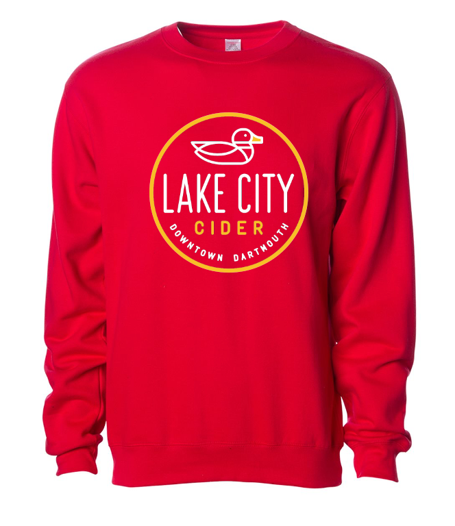 Unisex Red Crew Neck Sweater