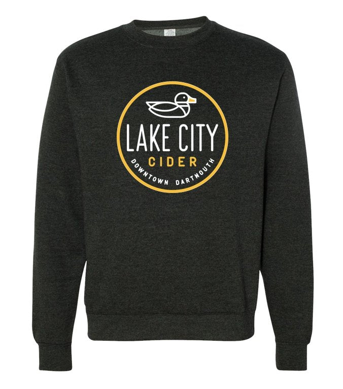 Unisex Charcoal Grey Crew Neck Sweater - Lake City Cider