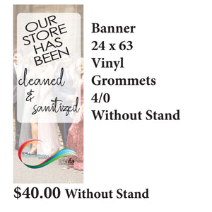 Copy of 24x63 Banner Without Stand