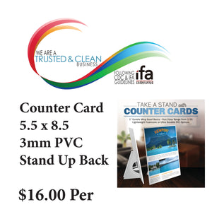 Trusted Clean Counter Card