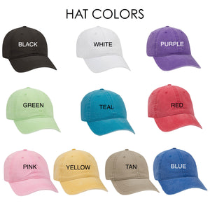 """Personalized Quote Hats For Bridesmaids"""