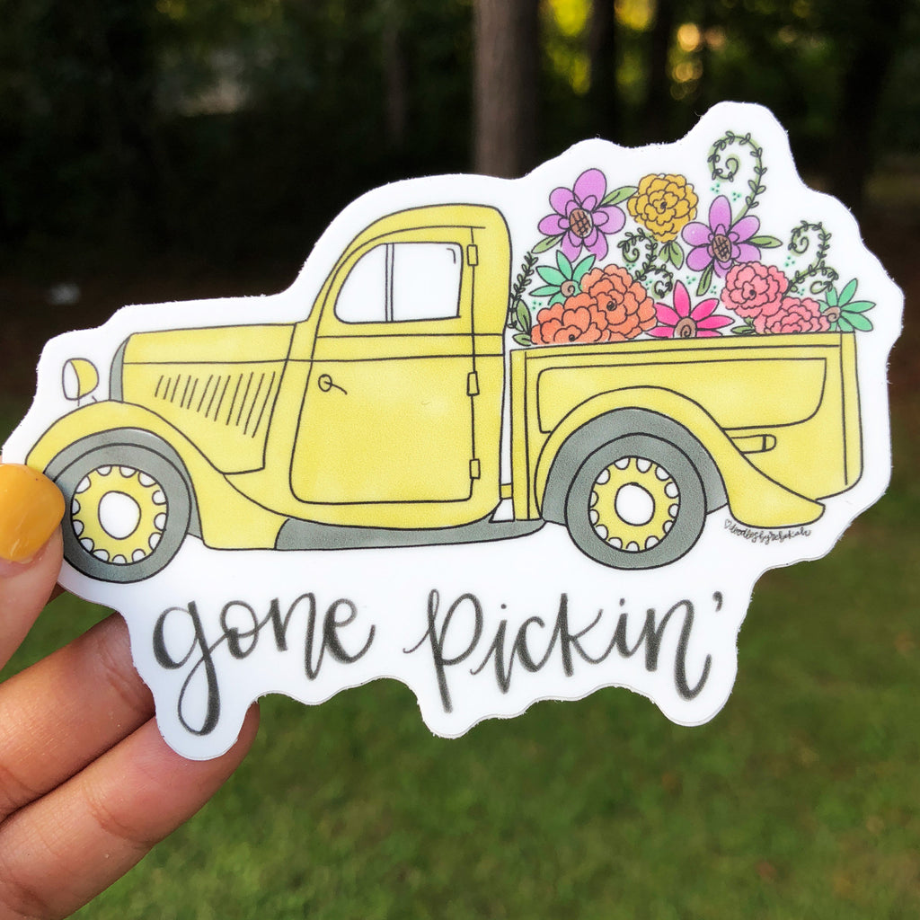 Gone Pickin' Sticker