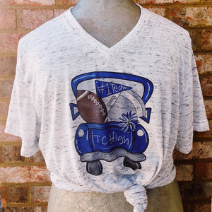 Football V Neck Tee Shirt