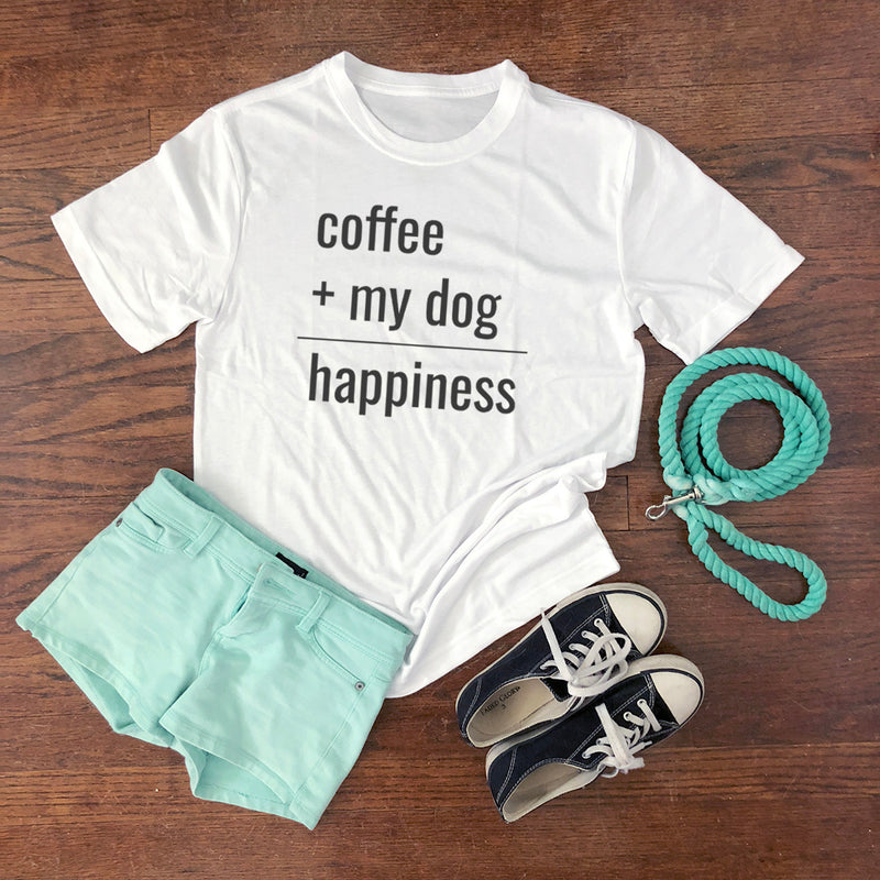 coffee and my dog are happiness shirt