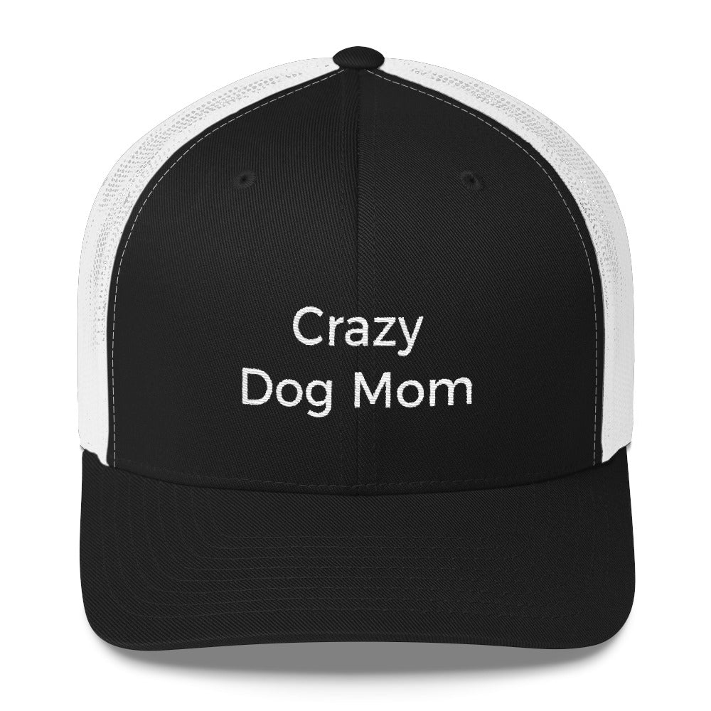 crazy dog mom trucker hat