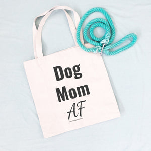 dog mom canvas bag
